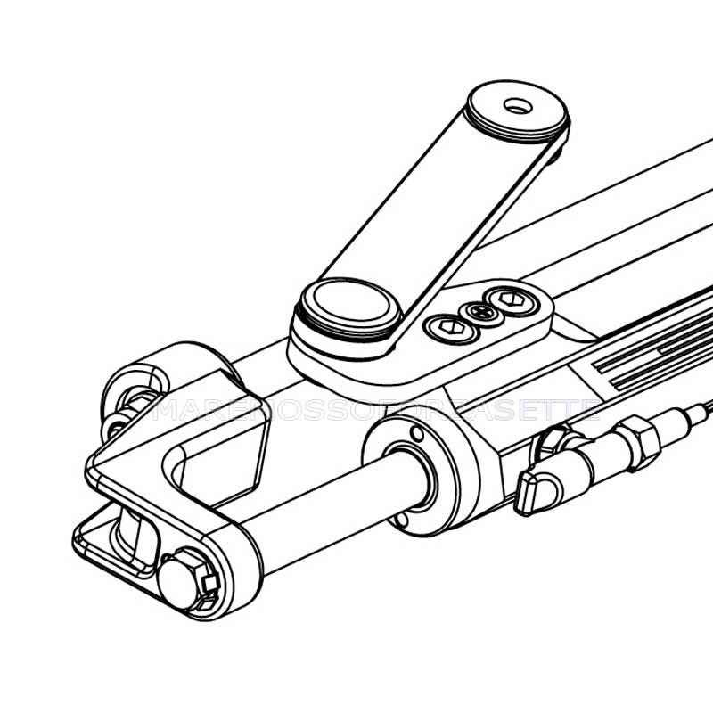 Cylinder Steering System Hydraulic Ultraflex Uc128 Obf1 For