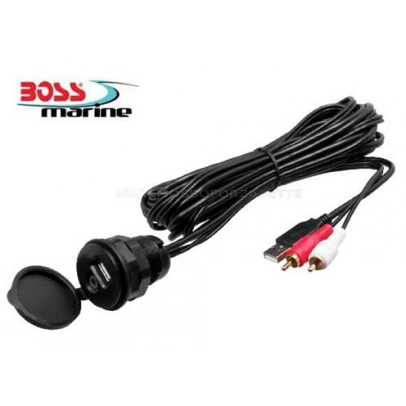 Adattatore MUSB35 USB ed AUX per radio Boss Marine
