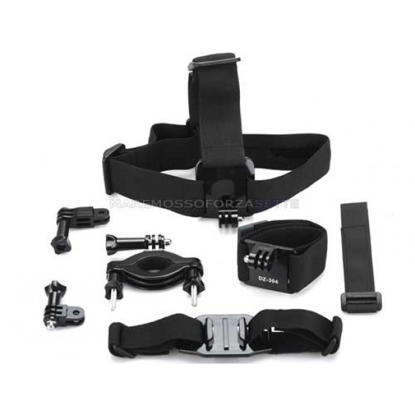 KIT 113 DAZZNE ACCESSORI PER ACTION CAMERA SPORT 6 PEZZI