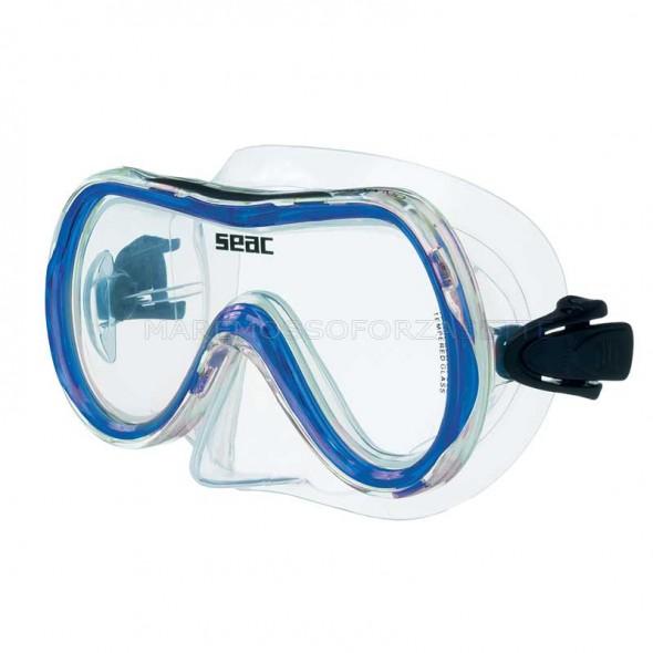 Maschera in silicone Seac Sub salina md blu