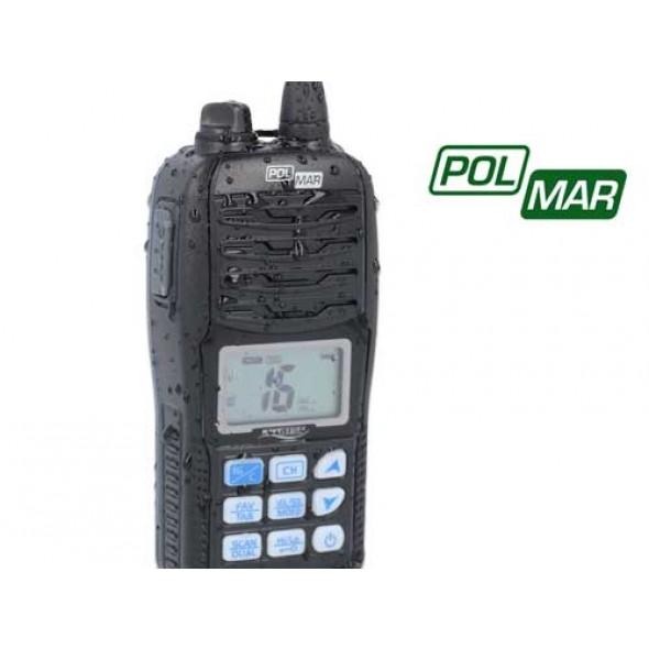 VHF NAUTICO IMPERMEABILE PORTATILE POLMAR NAVY 015F GALLEGGIANTE