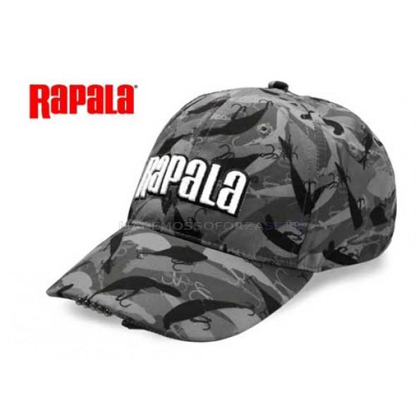 CAPPELLO RAPALA 5 LED CAP MIMETICO CON LUCE