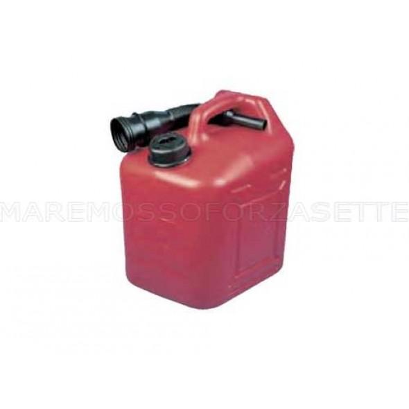 Tanica carburante jerrycan 10 litri con travasatore