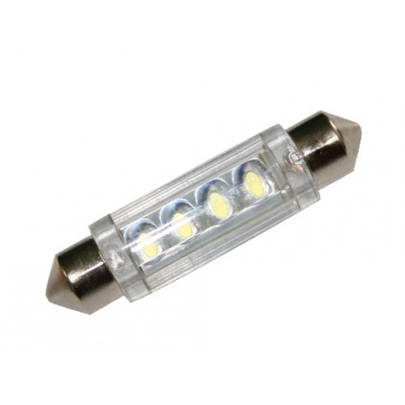 LAMPADINA SILURO 4 LED 12 volt 41mm