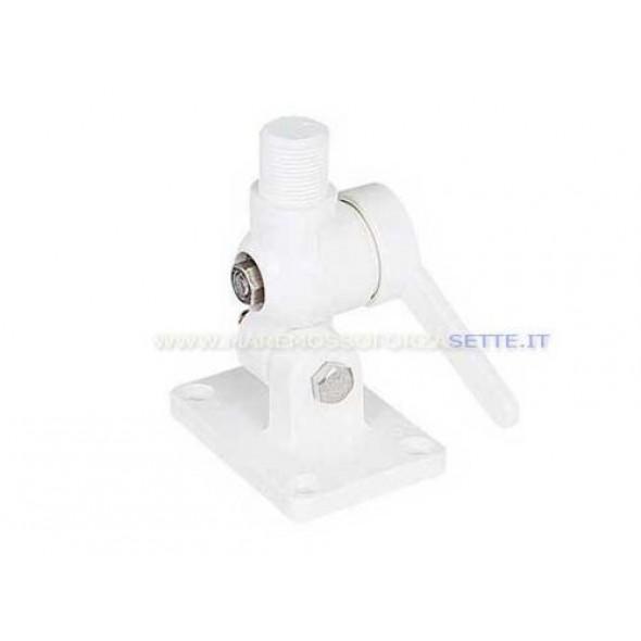 Supporto snodato in naylon per antenna VHF e GPS
