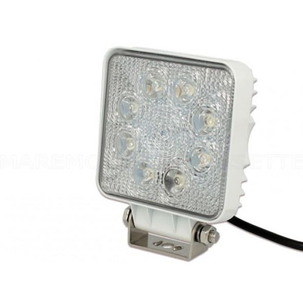 FARO PROIETTORE IMPERMEABILE A LED IP67 LUMEN 1600 12 VOLT