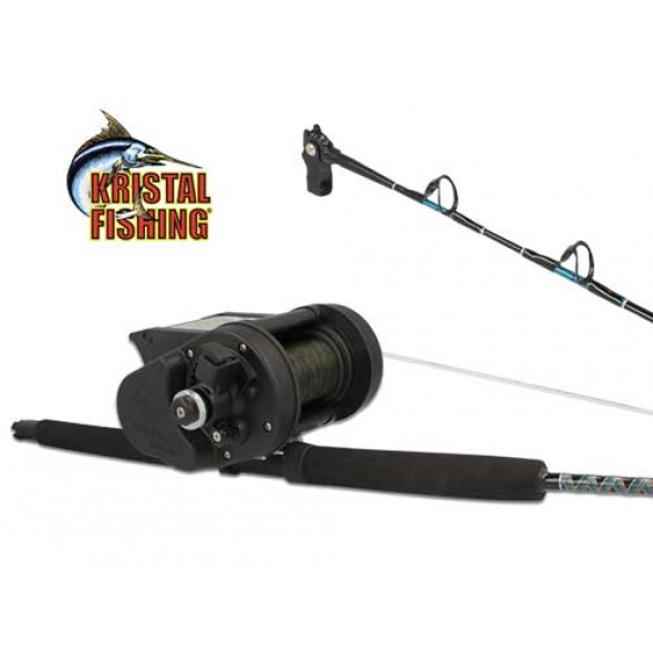 MULINELLO ELETTRICO KRISTAL FISHING XL638 CON CANNA HALIBUT