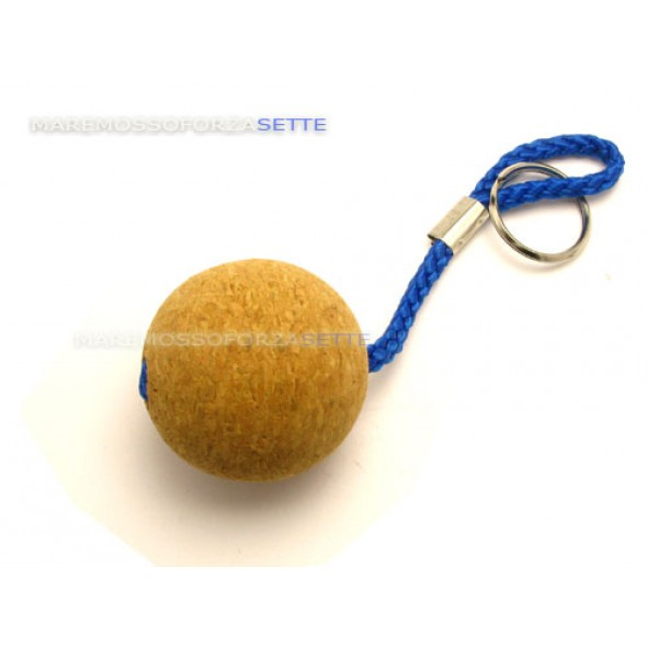 Portachiavi in sughero a palla