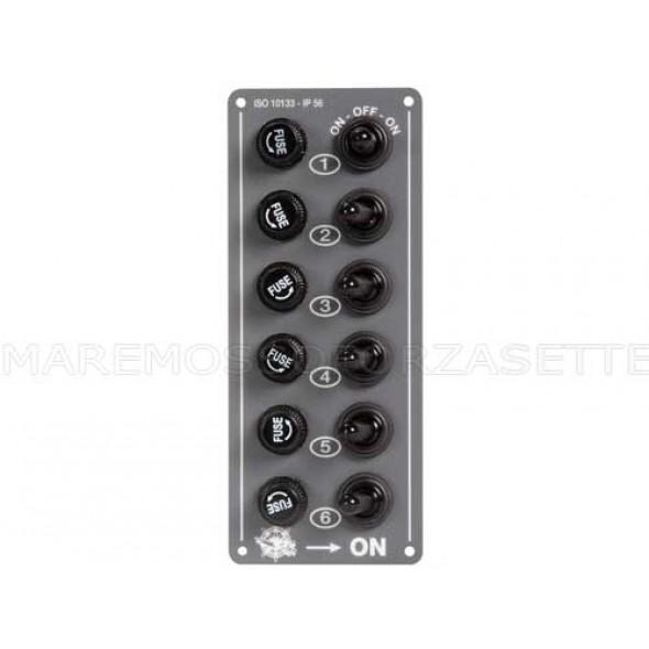 Mini pannello elettrico stagno 6 interruttori