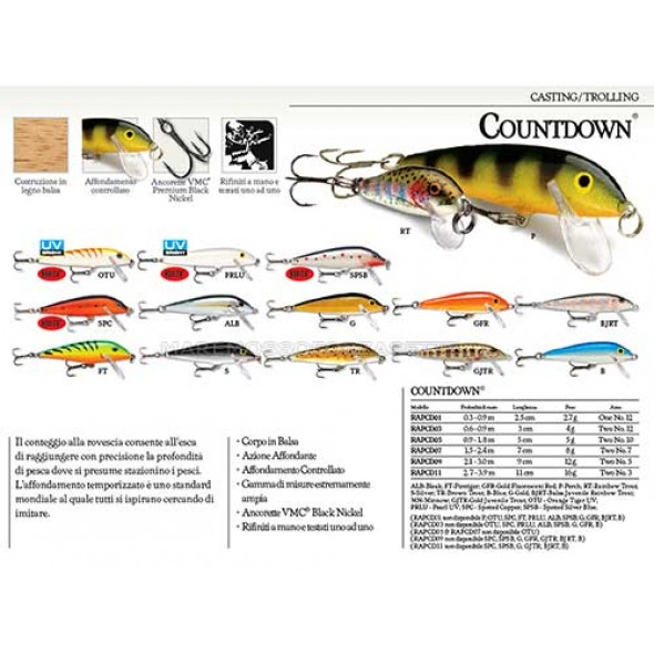 Artificiale Rapala Countdown