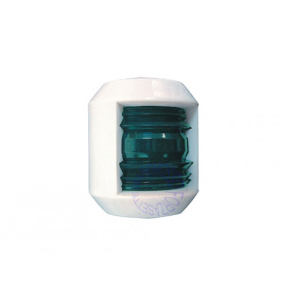 Luce di via junior verde 112° in ABS bianco