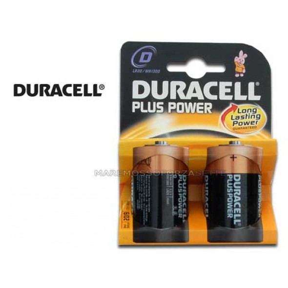 BLISTER PILE DURACELL TIPO TORCIA D (2 PILE)