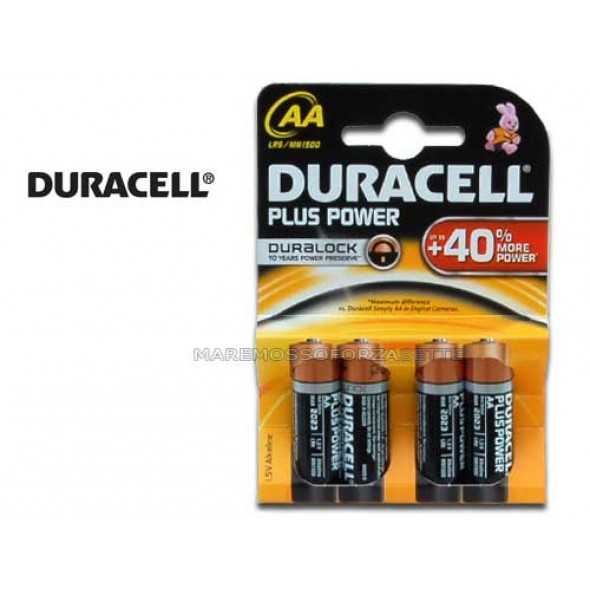 BLISTER PILE DURACELL TIPO STILO AA (4 PILE)
