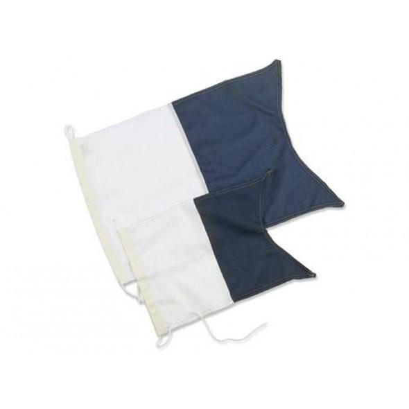 Bandiera di segnalazione sub alfa per acque internazionali 20x30