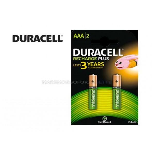 Pile ricaricabili Duracell plus Blister 2 pz