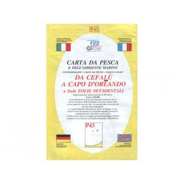 CARTA P43 PESCA SEAWAY SICILIA