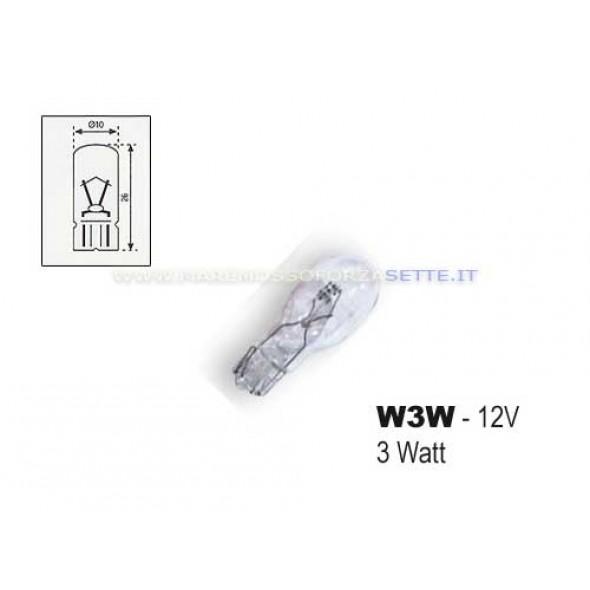 Lampadina di ricambio per quadro strumenti 3w 12volt