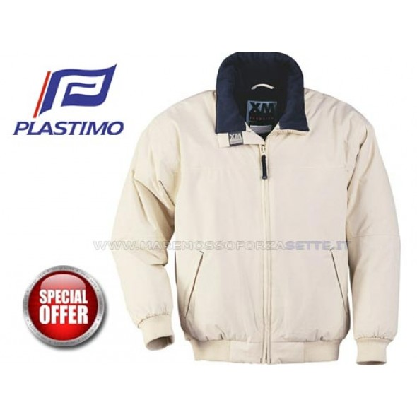 Giubbotto a vento interno in pile plastimo xm yacht bianco XLARGE