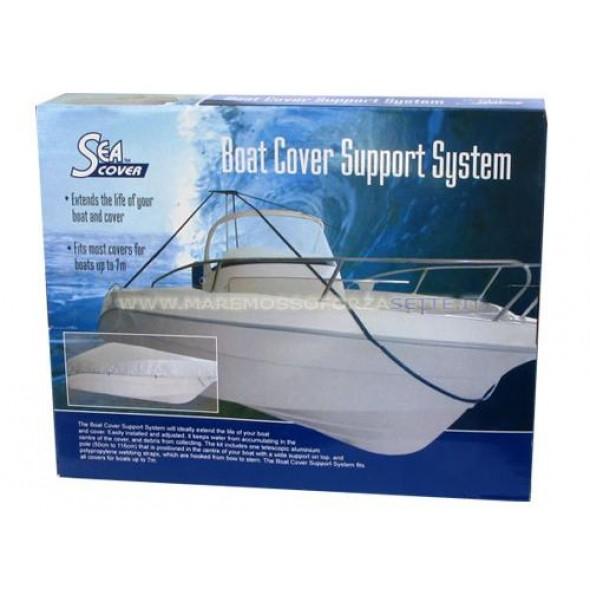 Sistema di sostegno per telo copertura barca