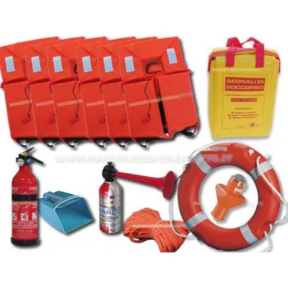 dotazioni di sicurezza per la barca