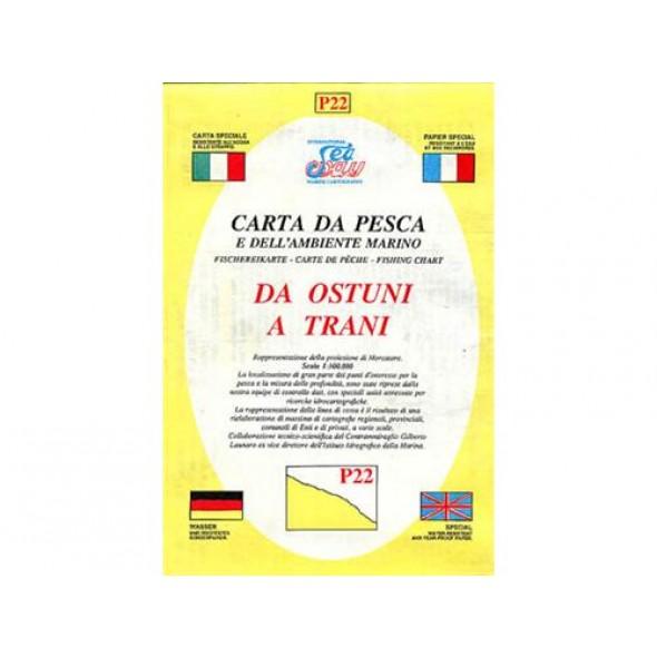 CARTA P22 PESCA SEAWAY PUGLIA