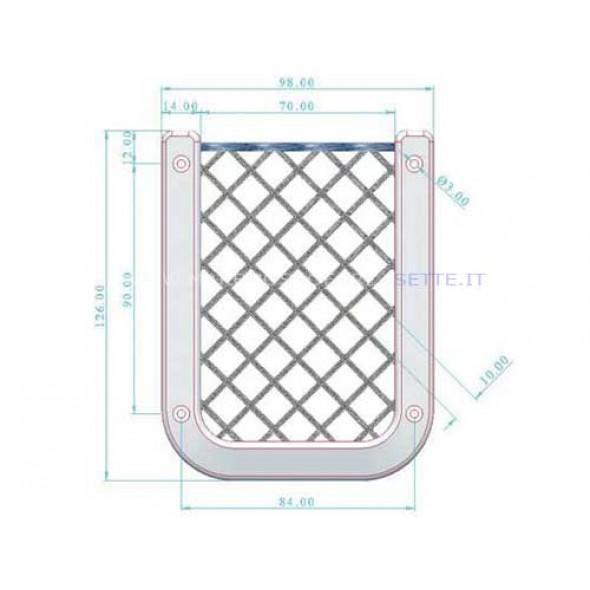 Tasca porta cellulare con rete
