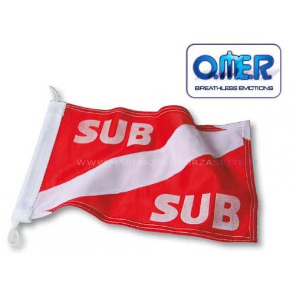 Bandiera Sub In Stoffa Omer sub 20 X 30