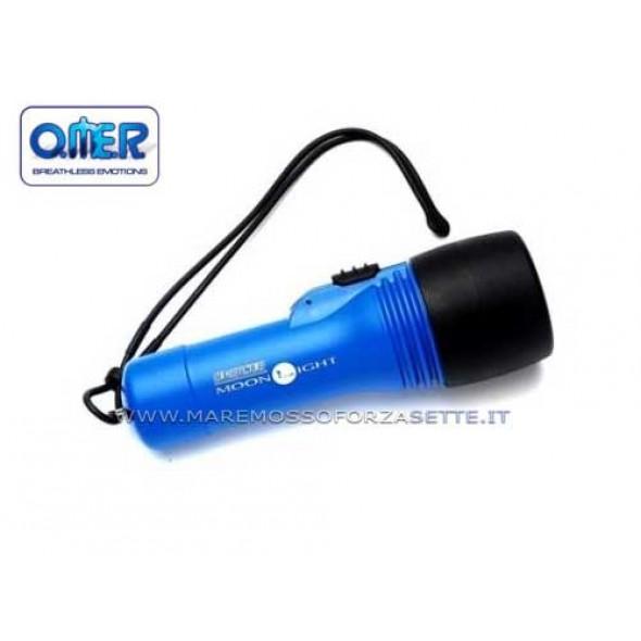 Torcia Sub Moonlight Omersub 6 Watt Blu In Blister