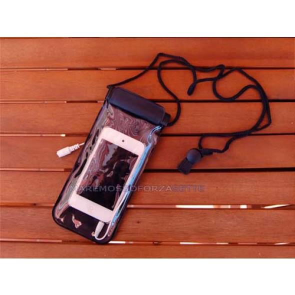 Custodia impermeabile per iphone e ipod con tracolla