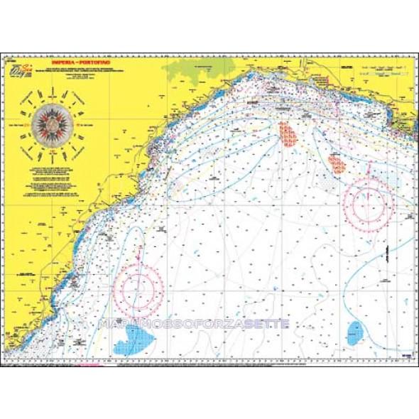 CARTA NP002 NAUTICA PESCA SEAWAY LIGURIA