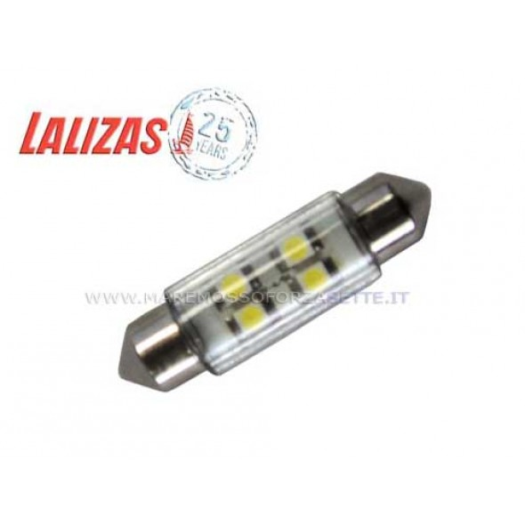 Lampadina siluro 8 led 12 voLTs 39mm