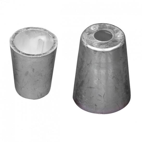 Zinco ogiva Conico per asse elica tipo radice