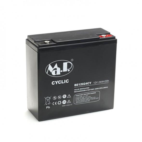 Batteria Agm Ciclica 12 Volt 24 Ampere