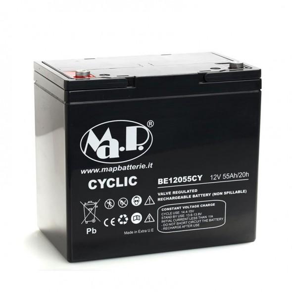 Batteria Agm Ciclica 12 Volt 55 Ampere