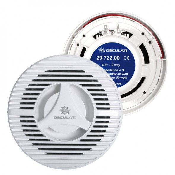Casse Stereo per radio Marine per barca Coppia 100 Watt Ø 180mm