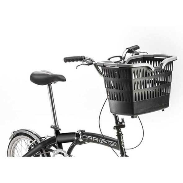 Estraibile e corredato di maniglie e ruote per il trasporto questo cestino è quanto di più utile e comodo si possa trovare sul mercato come accessorio per le bici da barca.