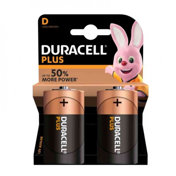 Pile Duracell tipo torcia D Blister 2 pile