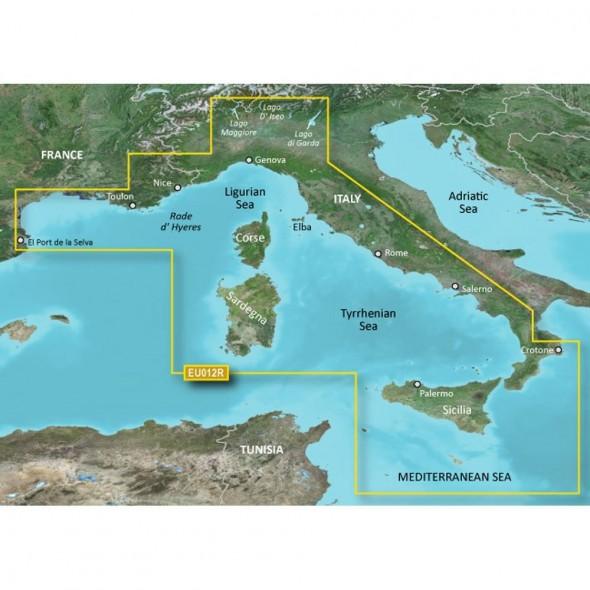 Garmin Bluechart G3 Hxeu012r Mediterraneo Centro Ovest