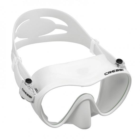 Maschera subacquea Cressi Sub F1 in silicone bianco