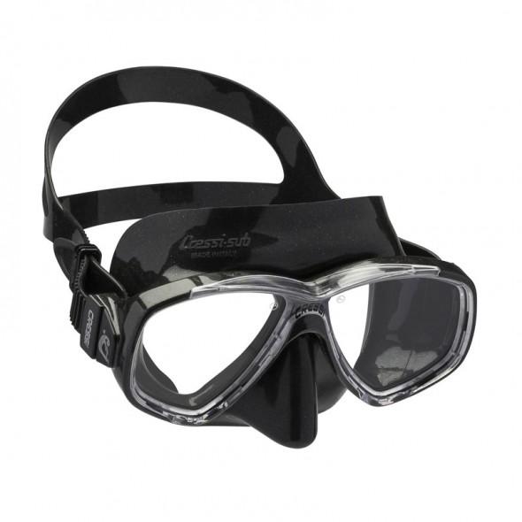 Maschera Cressi Sub Perla in silicone nera