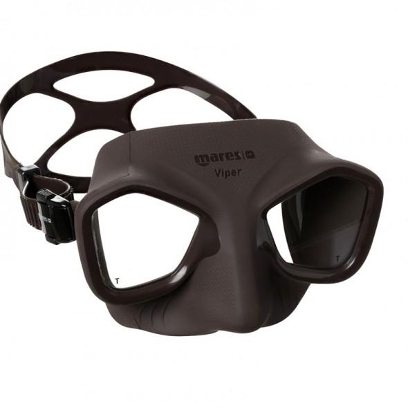 Maschera Mares Viper nera ideale per l'apnea e la pesca sub