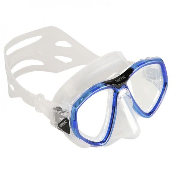 Maschera in silicone Seac Sub one trasparente / blu