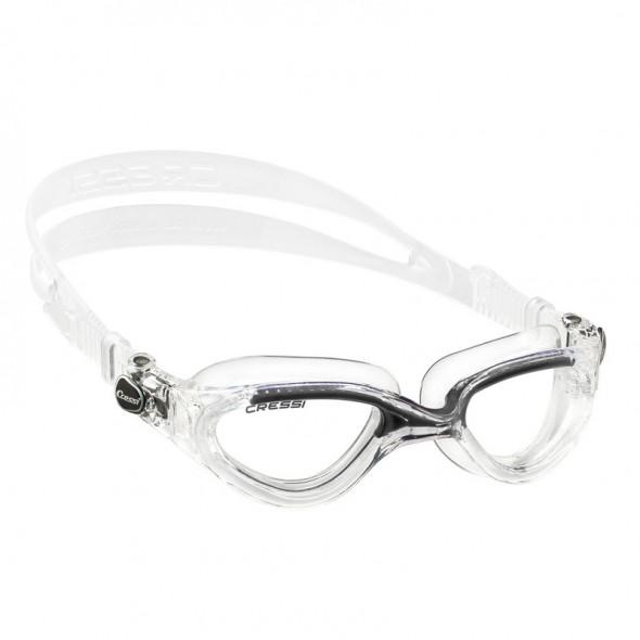 Occhialini nuoto Cressi Sub Flash in silicone trasparente-nero