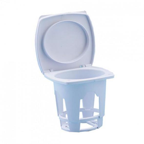 Contenitore per docce con tappo rigido ovale