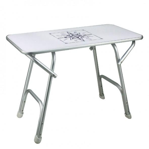 Tavolo Per Barca Pieghevole in Alluminio cm 88x60 Altezza cm 61
