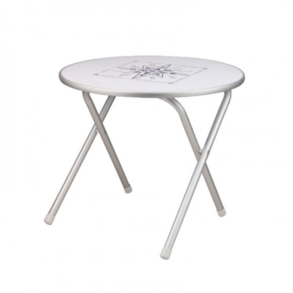 Tavolo Per Barca Pieghevole in Alluminio Diametro cm 60 Altezza cm 51