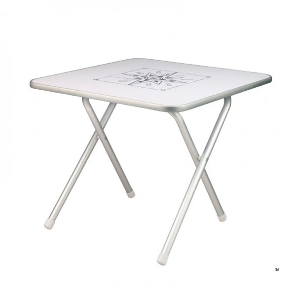 Tavolo Per Barca Pieghevole in Alluminio cm 60x40 Altezza cm 51