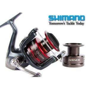 Mulinello Per Pesca Shimano Aernos 4000fb Con Bobina Di Ricambio