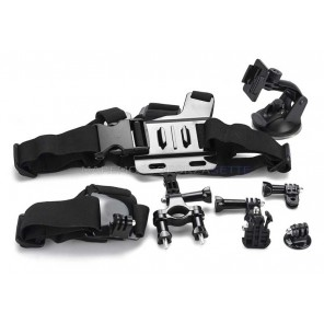 KIT 104 DAZZNE ACCESSORI PER ACTION CAMERA SPORT 6 PEZZI