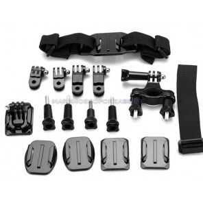 KIT 103 DAZZNE ACCESSORI PER ACTION CAMERA SPORT 7 PEZZI